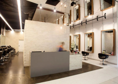 Matte Feather Finish Polished Concrete Hair Salon