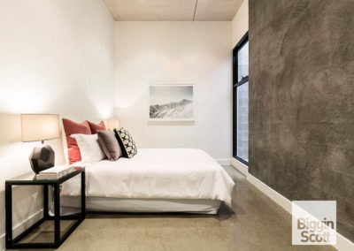 polished concrete ozgrind bedroom