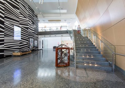 polshed concrete art gallery ozgrind brisbane gold coast commercial floors