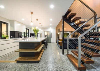 polished concrete brisbane ozgrind kitchen home